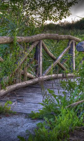 92347 descargar fondo de pantalla Naturaleza, Puente, Plantas, Hierba, Paisaje: protectores de pantalla e imágenes gratis