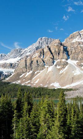 156034 скачать обои Природа, Парки, Канада, Банф Скала, Горы, Пейзаж - заставки и картинки бесплатно