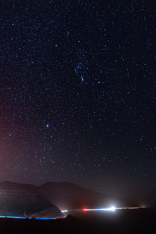 97736 Hintergrundbild herunterladen Universum, Übernachtung, Schein, Dunkel, Sternenhimmel, Galaxis, Galaxy - Bildschirmschoner und Bilder kostenlos