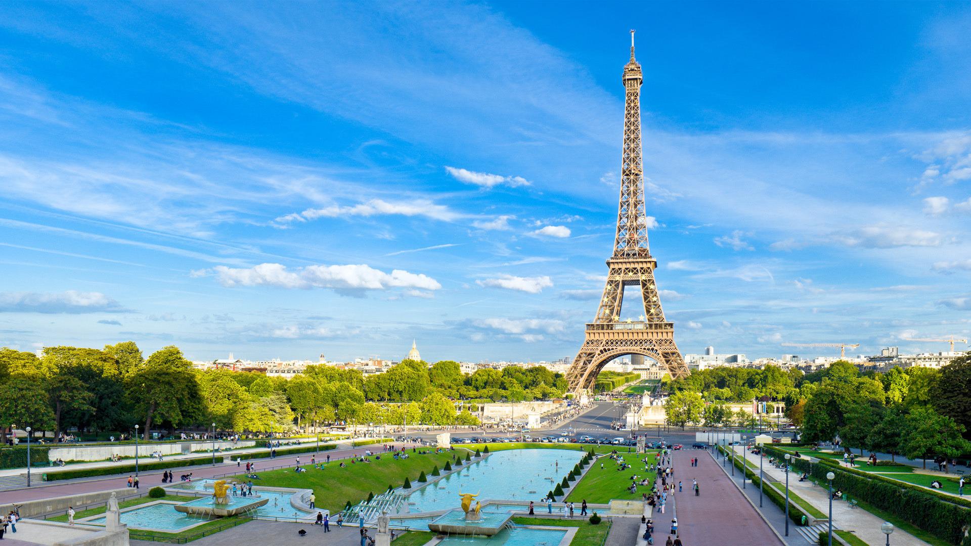 18635 скачать обои Пейзаж, Города, Небо, Облака, Эйфелева Башня - заставки и картинки бесплатно