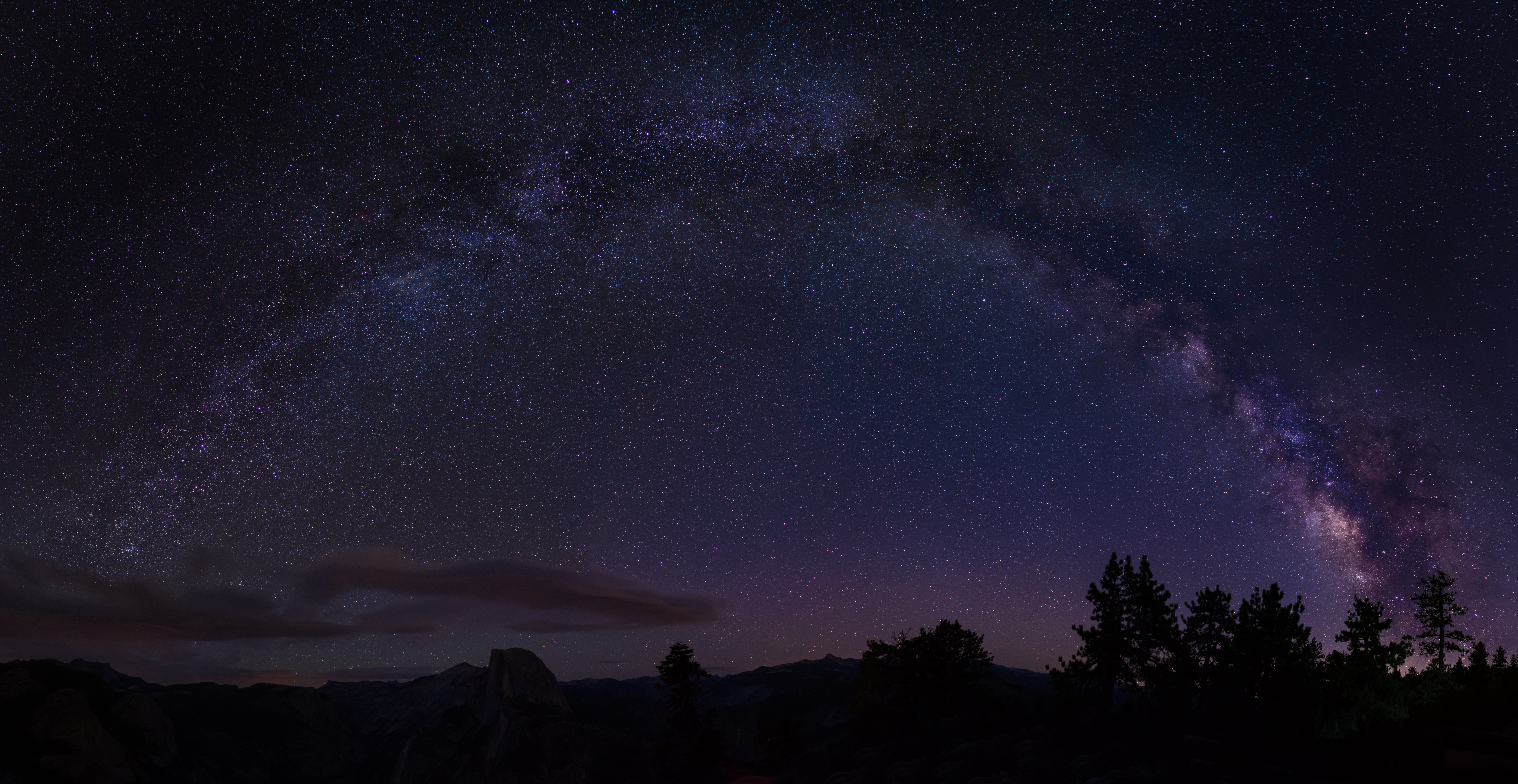 58970壁紙のダウンロード闇, 暗い, 星空, 木, 天の川, カリフォルニア, カリフォルニア州, 米国-スクリーンセーバーと写真を無料で