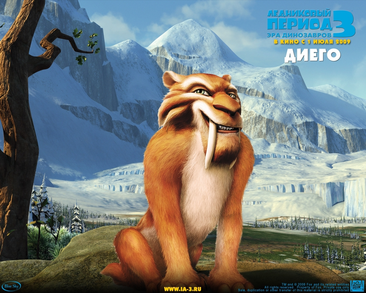 1812 download wallpaper Cartoon, Ice Age, Diego screensavers and pictures for free