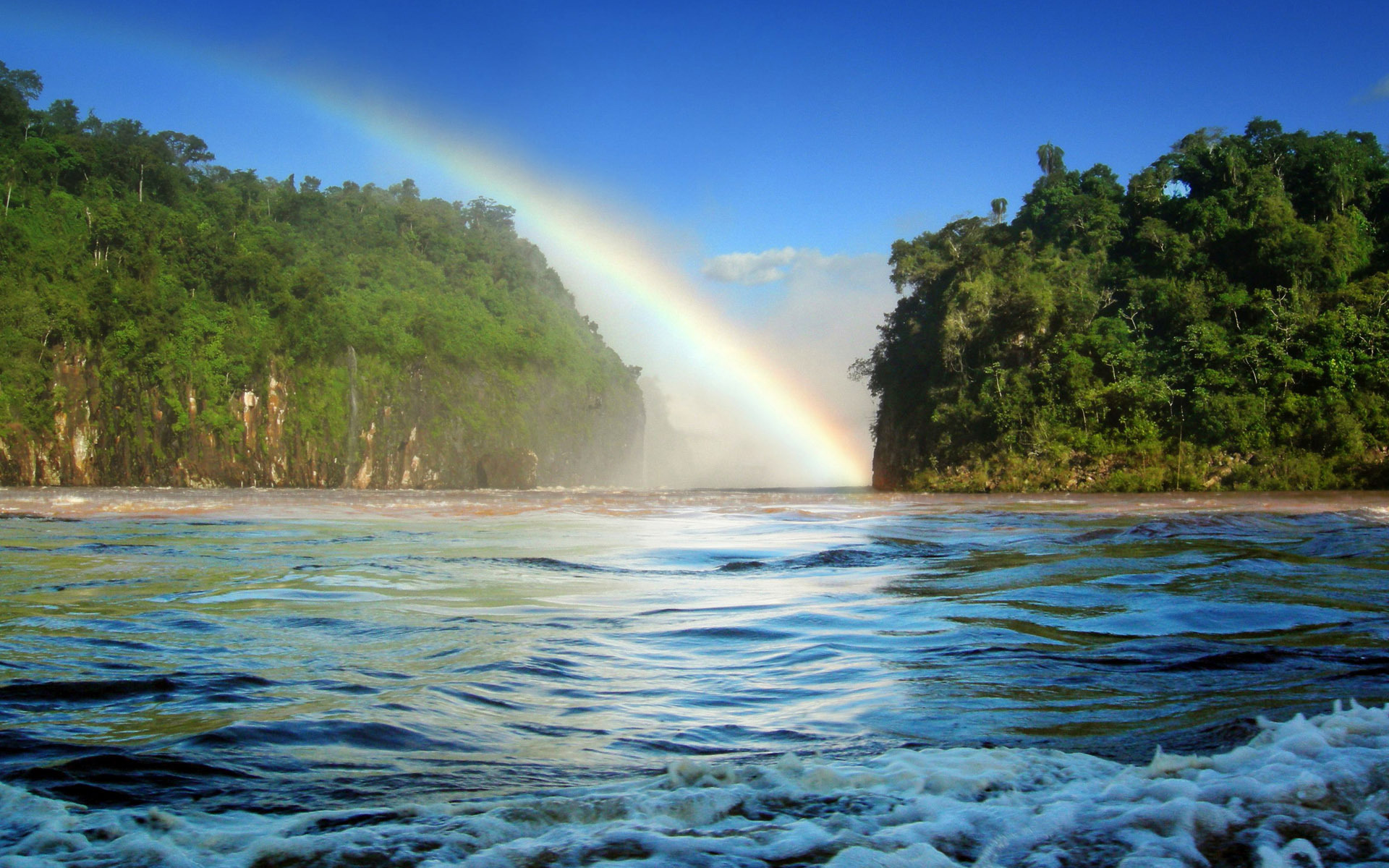39390 免費下載壁紙 景观, 海, 彩虹 屏保和圖片