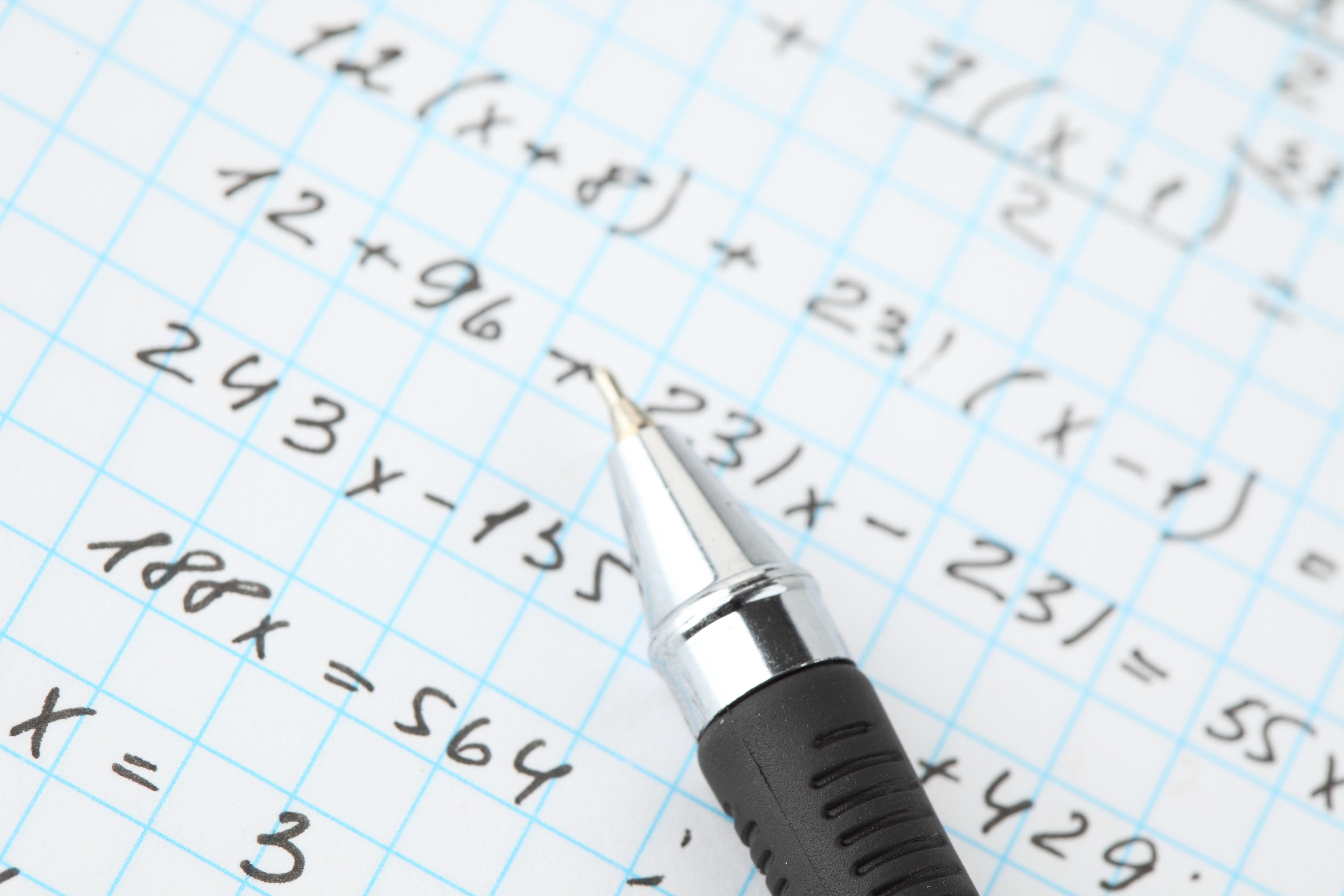 53292 скачать обои Разное, Ручка, Тетрадь, Клеточка, Формулы, Учёба - заставки и картинки бесплатно