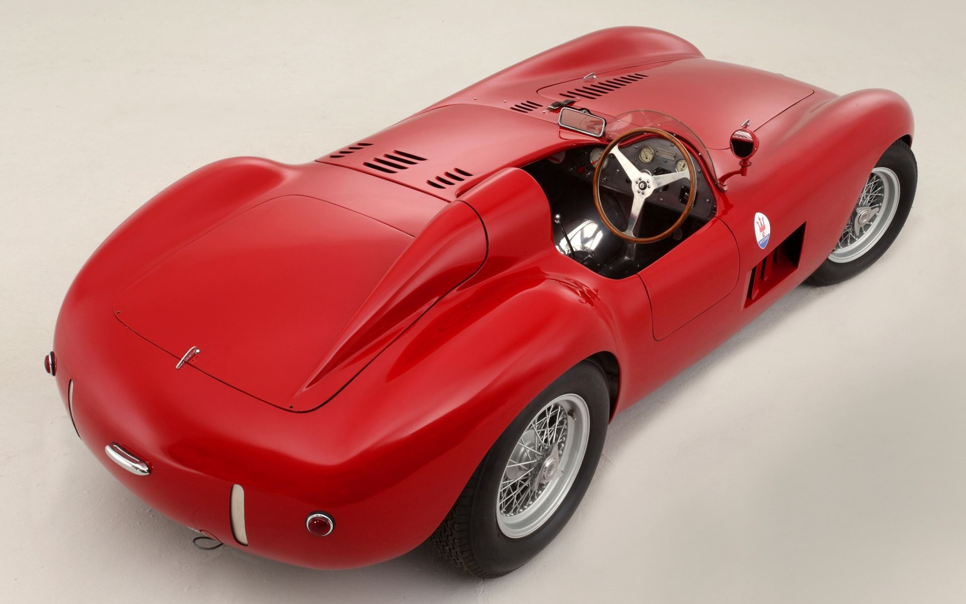 152449 download wallpaper Cars, Maserati, 300S, 1956, Back View, Rear View screensavers and pictures for free