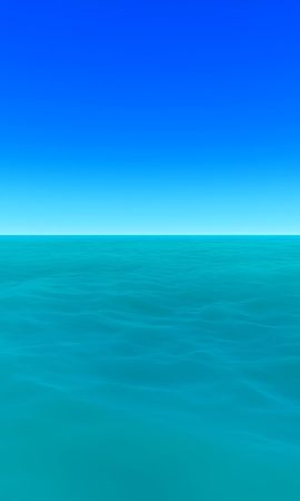103841 download wallpaper Minimalism, Sea, Horizon, Art, Sky, Water screensavers and pictures for free