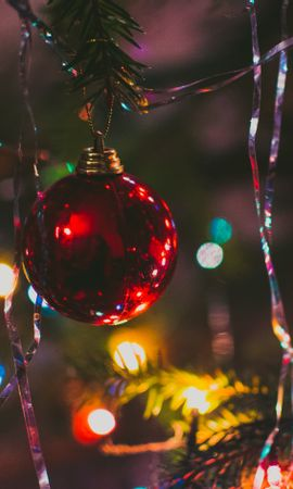 59670 télécharger le fond d'écran Fêtes, Jouet D'arbre De Noël, Arbre De Noël, Balle, Ballon, Épicéa, Sapin, Nouvel An, Noël - économiseurs d'écran et images gratuitement