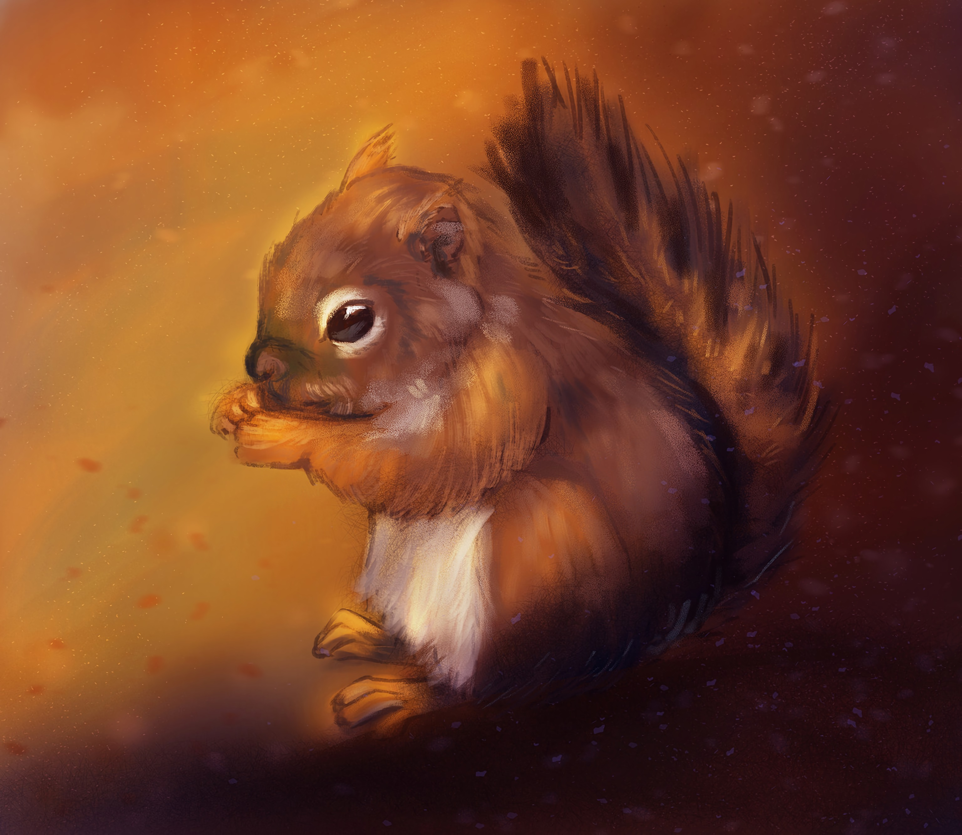 99053 download wallpaper Animals, Squirrel, Rodent, Nice, Sweetheart, Animal, Art screensavers and pictures for free
